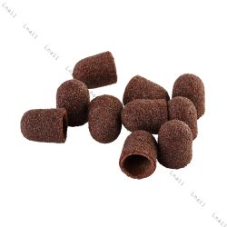 Sanding cap Ø 10 mm 100 pcs Rounded Coarseness: Coarse 80