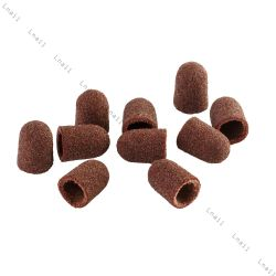 Sanding cap Ø 7 mm 100 pcs Rounded Coarseness: Coarse 80