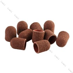 Sanding cap Ø 13 mm 100 pcs Rounded Coarseness: medium 120